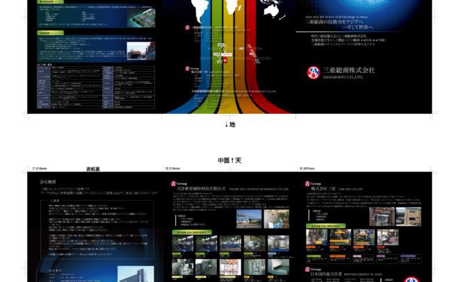 名古屋市東区のホームページ制作 パンフレット制作 ポスター制作会社のOaK 制作実績 三亜総業株式会社パンフレット制作