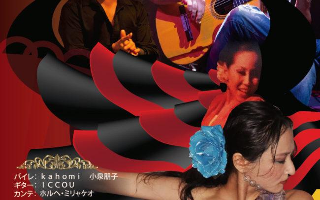 名古屋市東区のホームページ制作 パンフレット制作 ポスター制作会社のOaK 制作実績 Kahomi Flamenco LIVE